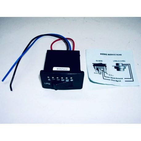 Indicador de nivel gas - Conmutador GLP/GNC 6 LED